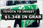 Toyota to invest $1.34b in Singapore-based ride-hailing firm Grab