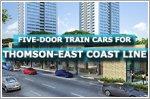 Five-door train cars for Thomson-East Coast Line