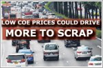 Low COE prices could drive more to scrap cars prematurely