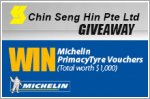 Michelin Primacy 4 tyre vouchers worth up to $1,000 to be won!