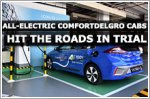All-electric ComfortDelGro cabs hit the roads