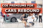 COE premiums for cars rebound