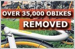 Over 35,000 oBike bicycles removed