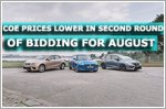 COE prices lower in second round of bidding for August
