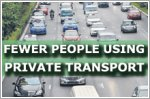 Fewer people using private transport