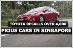 Toyota recalls over 4,000 Prius cars in Singapore