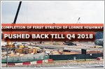 Completion of first stretch of Lornie Highway pushed back till Q4 2018