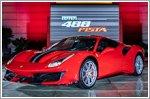 The unveiling of the brand new Ferrari 488 Pista in Singapore