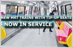 New MRT trains with tip-up seats now in service