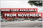 More COEs available from November