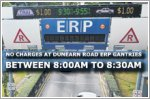 No charges at Dunearn Road ERP gantries between 8:00am and 8:30am from November