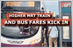 Higher MRT train and bus fares kick in