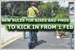 Lower speed limit and other new rules for bikes and PMDs to kick in from 1 Feb