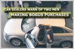 Car dealers warn of two men making bogus purchases