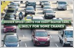 Higher speed limits for eight-seater cars, likely for some cranes