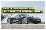 Sales of high-end cars soar, but sink for general market