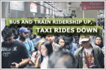 Bus and train ridership up, taxi rides down