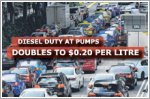 Diesel duty at pumps doubles to $0.20 per litre