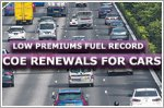 Low premiums fuel record COE renewals for cars