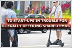 Two start-ups in trouble for illegally offering shared PMDs