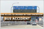 One killed, 16 injured in Tuas Checkpoint bus accident