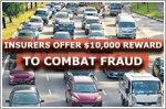 Insurers offer $10,000 reward to combat fraud