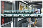 More bus stops to get wider seats, armrests