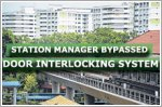 Station manager bypassed door interlocking system