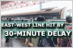 East-West Line hit by 30-minute delay