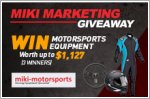Win motorsports equipment from Miki worth up to $1,127!