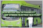 $134 million trial on feasibility of hybrid, electric bus fleet