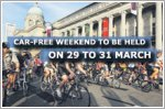 Car-Free Weekend to be held on 29 to 31 March