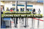 Be prepared for security screening at Jurong East MRT station on 5 April