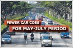 Fewer car COEs for May-July period