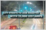 City streets to look brighter with 25,000 LED lamps