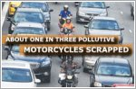 About one in three pollutive motorcycles deregistered