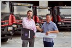 Chuan Lim Construction Group takes delivery of 18 new Scania tipper trucks