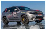 Jeep Grand Cherokee Trackhawk sets SUV speed record on ice