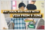 Pay train, bus fares with Visa contactless cards from 6 June