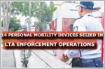 14 personal mobility devices seized in LTA enforcement operations