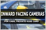 Inward-facing cameras for cabs and private-hire cars