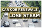 Car COE renewals lose steam after sizzling first quarter