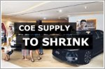Slight dip in COE supply for November to January period