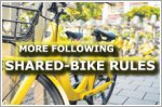 More following shared-bike parking rules