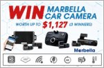 Marbella Car Camera Giveaway - Win car cameras worth up to $1,127!
