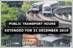 Extended train and bus hours on 31 December 2019
