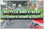 Bicycle and e-bike accidents down slightly