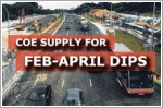 COE supply for Feb-April period dips