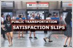 Satisfaction with public transportation slips