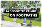 144 cases of e-scooters on footpaths in January